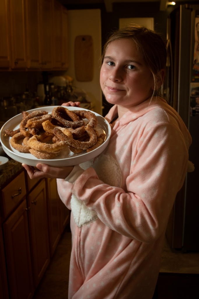 child chef with churros